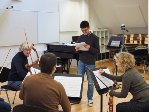 Music Department at King Edward's School, Birmingham: recording compositions with the CBSO