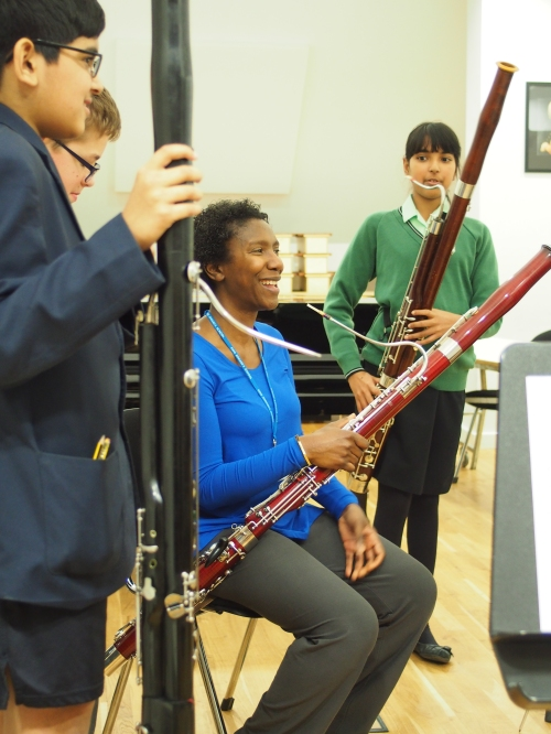 Music at King Edward's School, Birmingham -- our bassoonists work with Margaret Cookhorn
