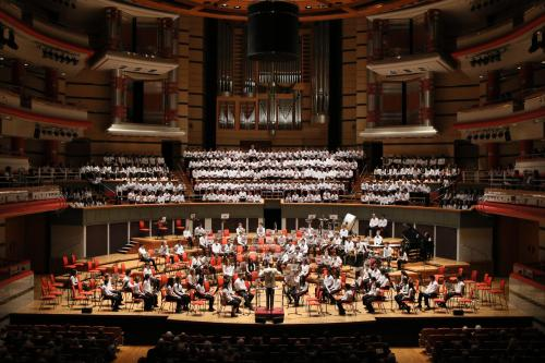 Music Department at King Edward's School, Birmingham: KES/KEHS Symphony Orchestra, Symphony Hall, 2016: Massed choirs, Symphony Hall, 2016