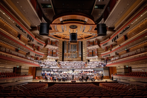 Music at King Edward's School, Birmingham: Rehearsing Romany Wood at Symphony Hall.