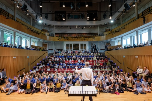 Romany Wood rehearsal in the Ruddock Performing Arts Centre, King Edward's School