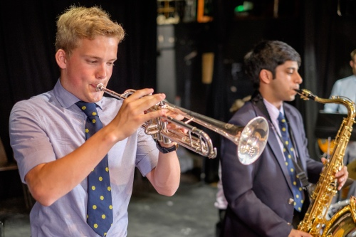 Music in the leavers' assemble, King Edward's School, Birmingham