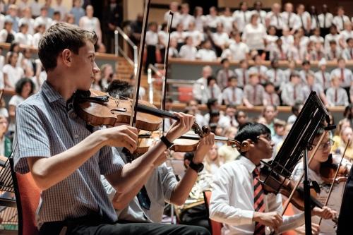 Tutti rehearsal at Symphony Hall