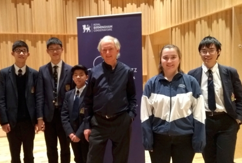 Music at King Edward's School, Birmingham; viola players at the Cecil Aronowitz competition