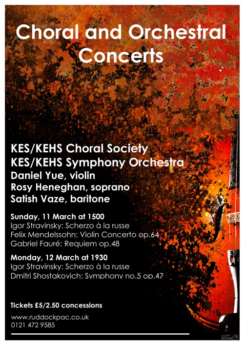 Music at King Edward's School, Birmingham: Choral and Orchestral Concerts