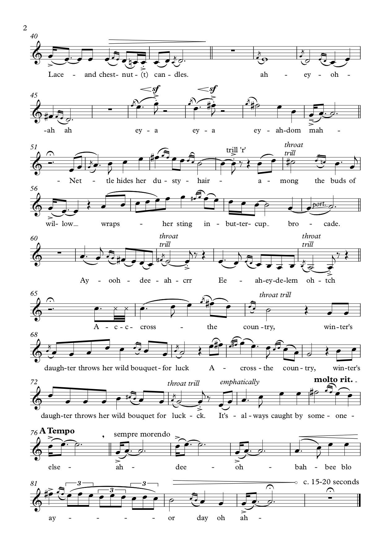 Christopher Churcher's 'Always the Bridesmaid' (Music Department at King Edward's School, Birmingham) (2)