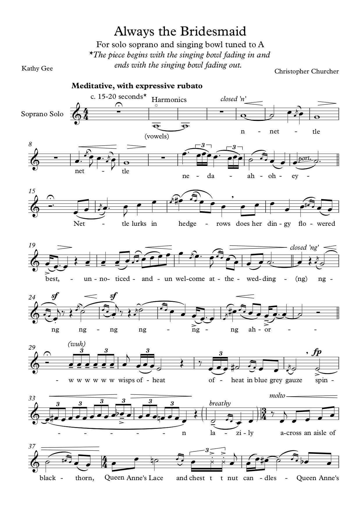 Christopher Churcher's 'Always the Bridesmaid' (Music Department at King Edward's School, Birmingham)
